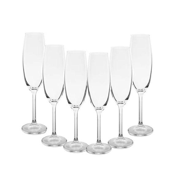 Jogo de Taça De Champagne com 6 unidades