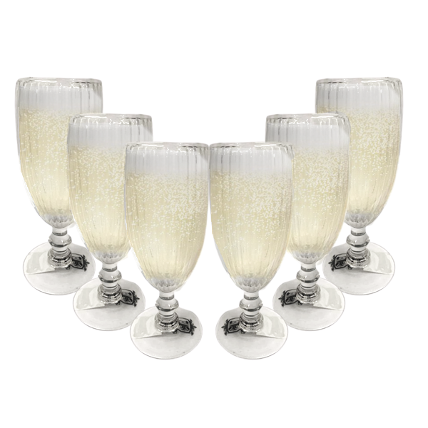 Jogo de Taça de Vidro para Champagne