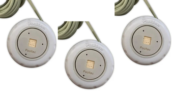 "KIT 3 unidades Refletor Tecno Mini Square Led 10w em ABS Com Rosca 1/2"""