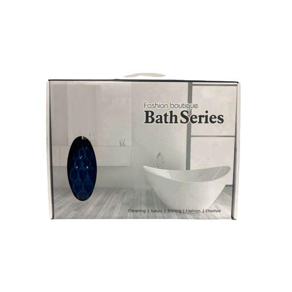 Kit Banheiro Acessórios Lavabo Azul 4 Peças - L1241