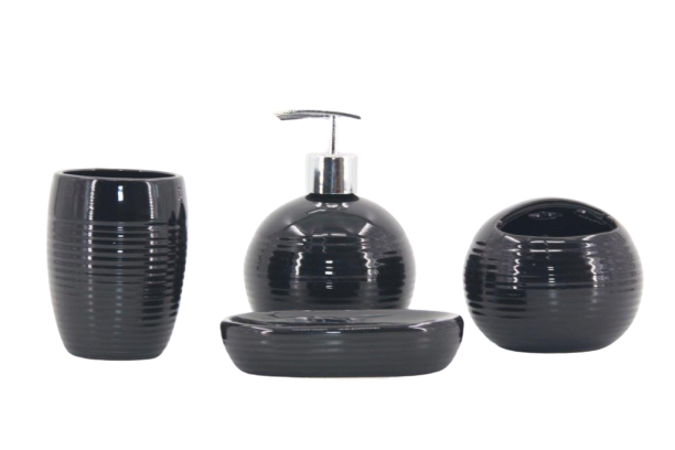Kit Banheiro Acessórios Lavabo Porta Sabonete Líquido 4 Peça