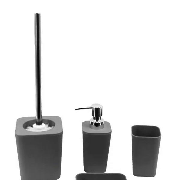 Kit Banheiro com Acessórios p/ Lavabo c/ Porta Sabonete Líquido 4 Peça - L1233C