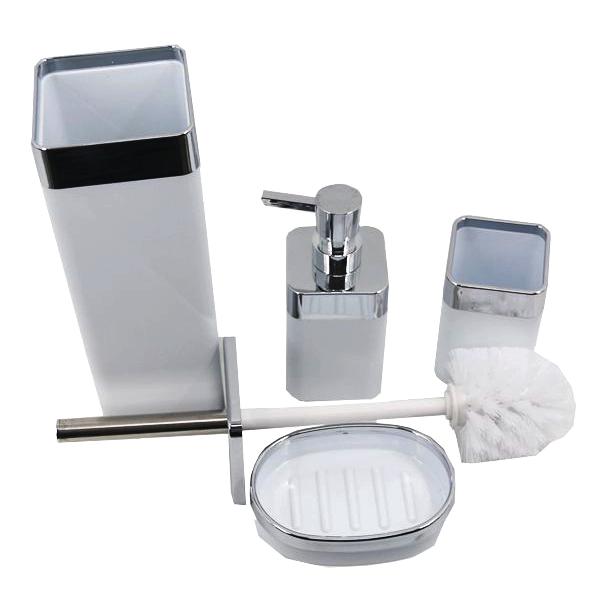 Kit Banheiro com Acessórios para Lavabo 4 Peças