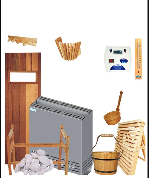 Kit Completo para Sauna Seca de até 15m³
