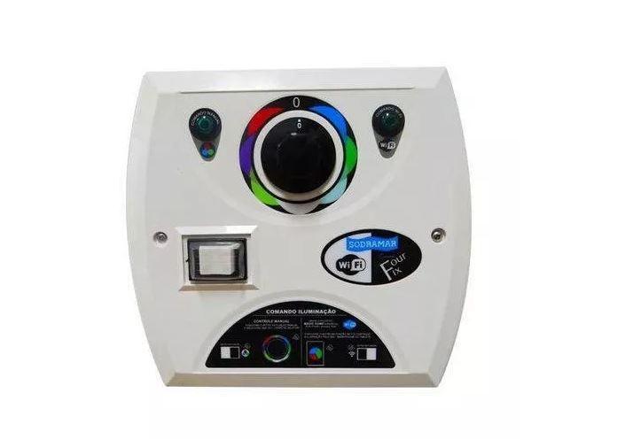 kit de Drive Comando Four Fix Com Wi-fi 81w + 4Led Smd 133 Universal Pratic Rgb P/ Até 16m²- Sodramar