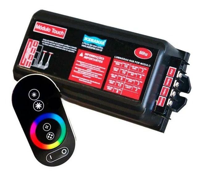 Kit iluminação 1 comando touch+ 2 hiper led 9w tubo de 50mm