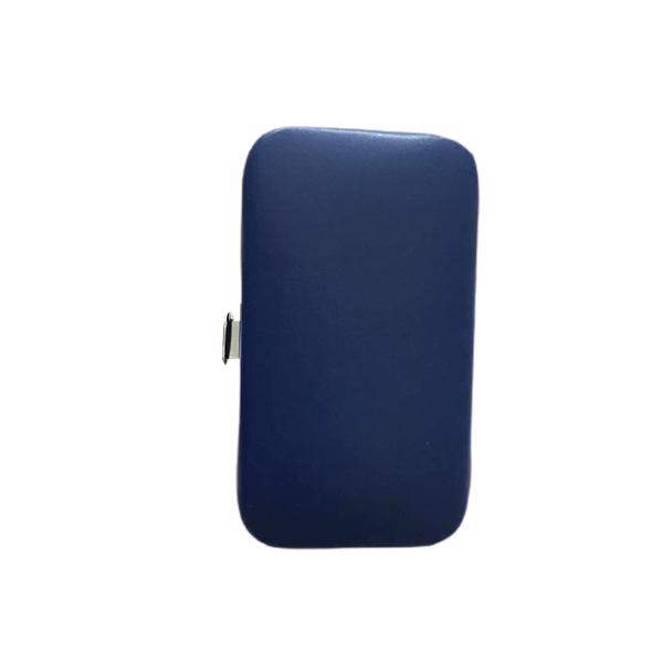 Kit Manicure para viagem em aço inoxidável 6 peças com um lindo estojo Azul