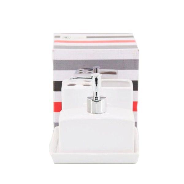 Kit Para Banheiro Higiene branco - ZF41