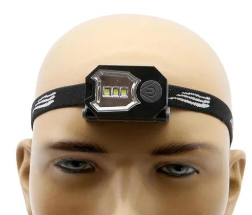 Lanterna de cabeça NTK com LEDs super brilhantes, 2 modos de iluminação e 50 lúmens Tida
