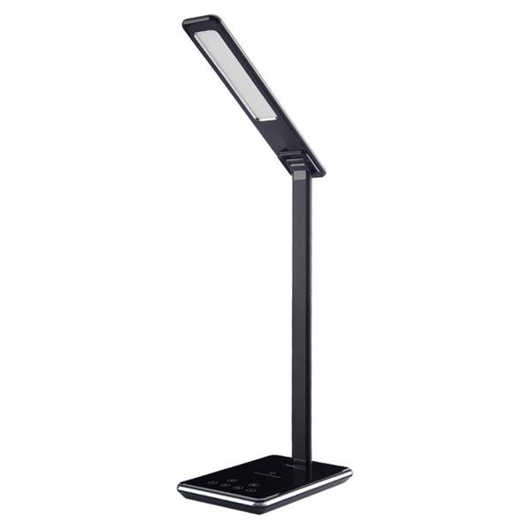 Luminária Led de Mesa Articulada Com Base Para Carga sem fio de celular - na Cor Preto WD102