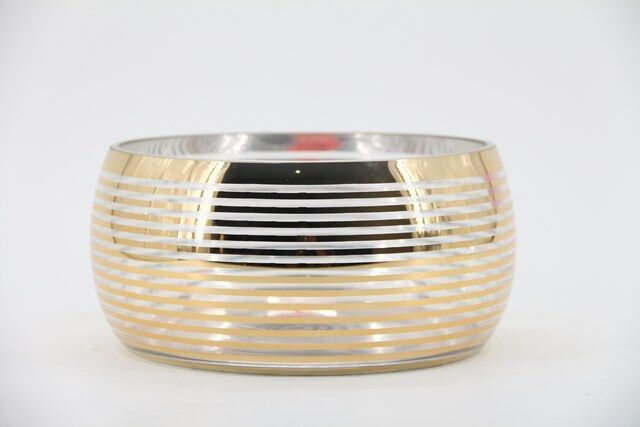 Vaso em Vidro Dourado 14 x 24 - G1348