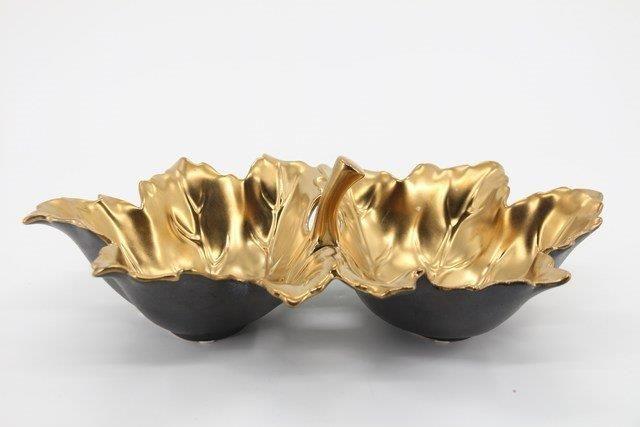 Petisqueira em Cerâmica Dourada 16x22
