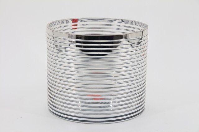 Vaso Decorativo em Vidro Prata 15 X 18 - G1352
