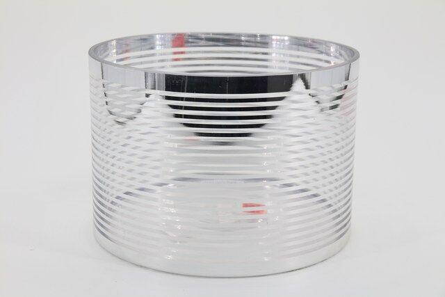Vaso  Decorativo em Vidro Prata 16 X 23 - G1349