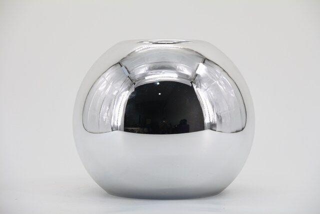 Castiçal  Decorativo em Vidro Prata 20 X 10 - G1340