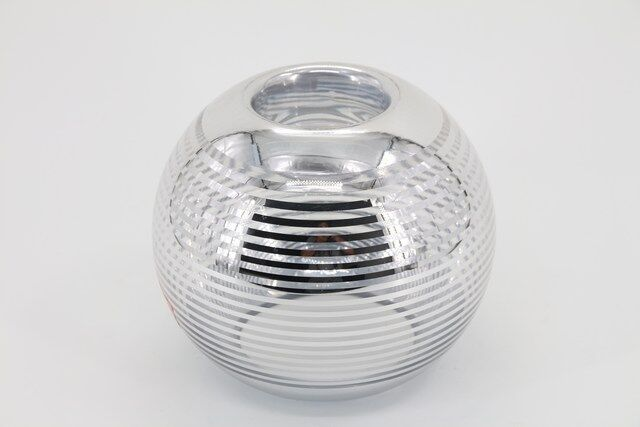 Castiçal  Decorativo em Vidro Redondo 17 X 09 - G1336