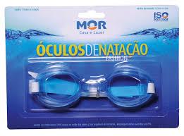 Óculos de Natação Fashion Azul + Touca Azul de silicone - Mor