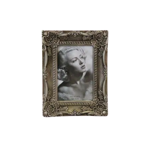 Porta Retrato Decorativo Em Poliresina - 3888 10x15