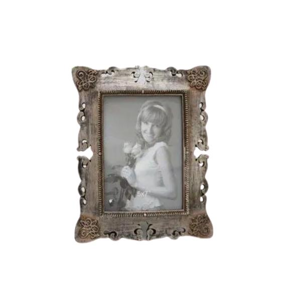 Porta Retrato Decorativo Em Poliresina - 3999