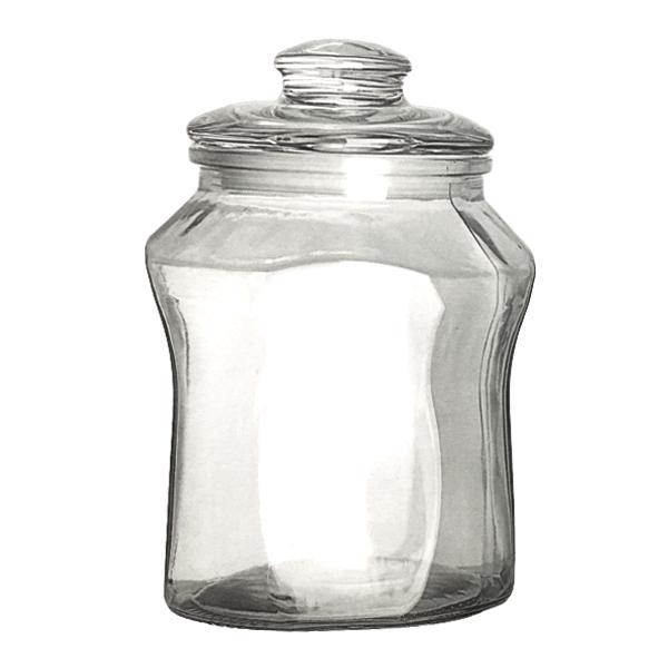 Pote Baleiro condimentos Mantimentos Doces em Vidro Com Tampa 2000ML