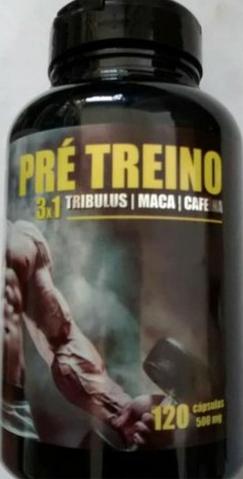 Pré Treino  3x1 Tribulus/ Maca/ Cafeína 120 Cápsula 500mg
