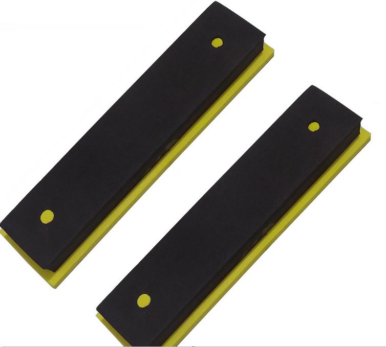 Protetor de Para-choque de Carro Contra Impacto Para  Garagem Retangular Preto (Par)