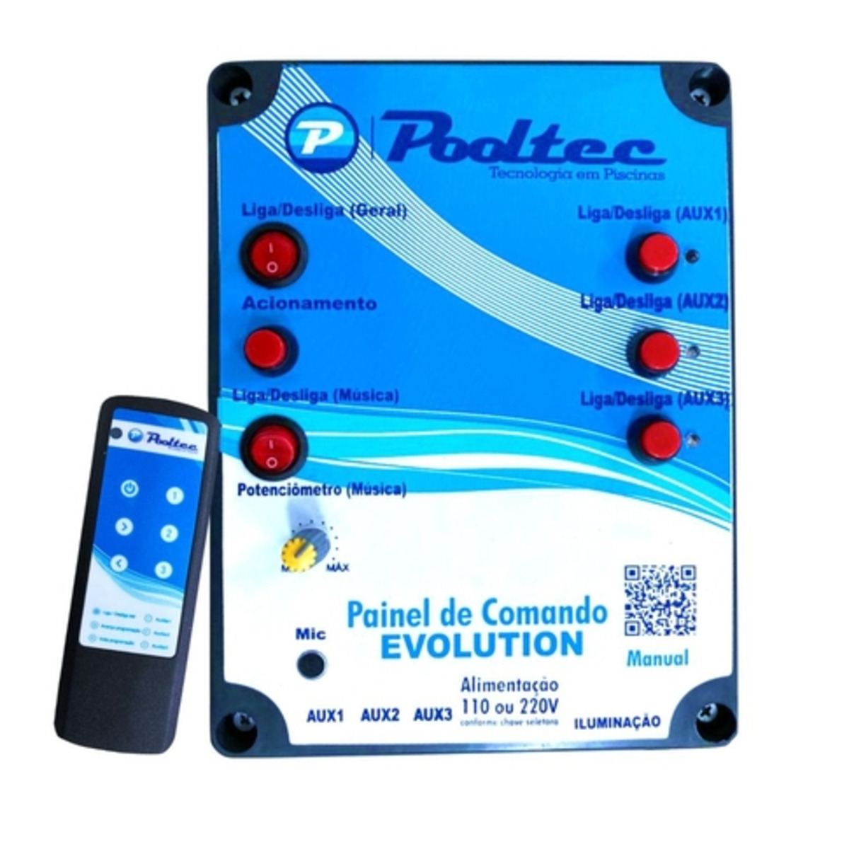 Quadro de Comando Evolution Modelo A para leds de Piscina pooltec