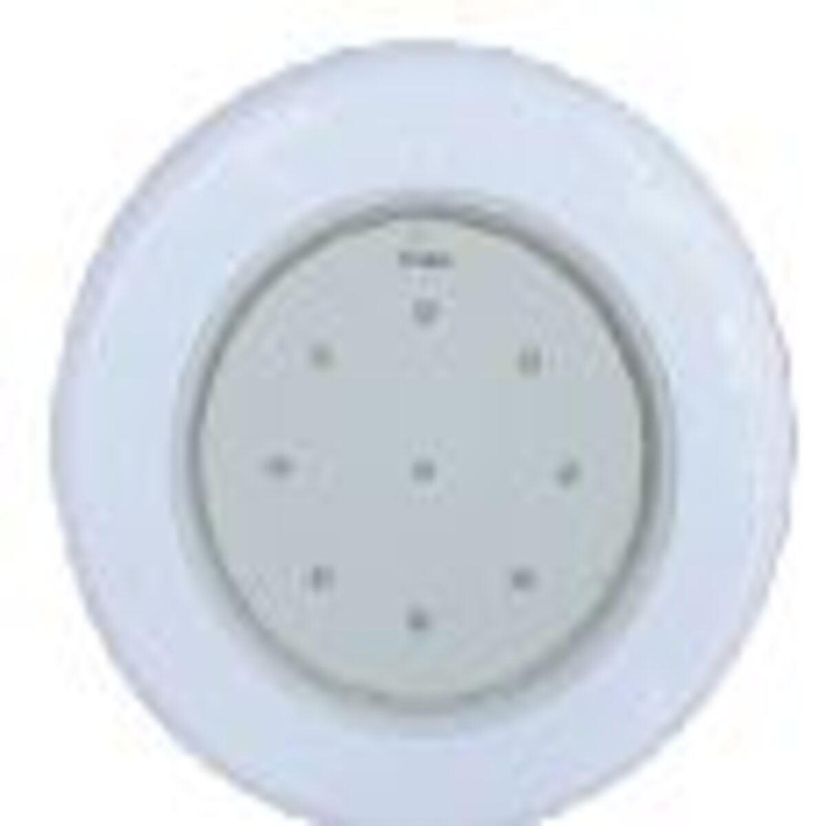 """Refletor Branco Tecno Super Led 9 em ABS com Plug 1/2"""" Pooltec"""