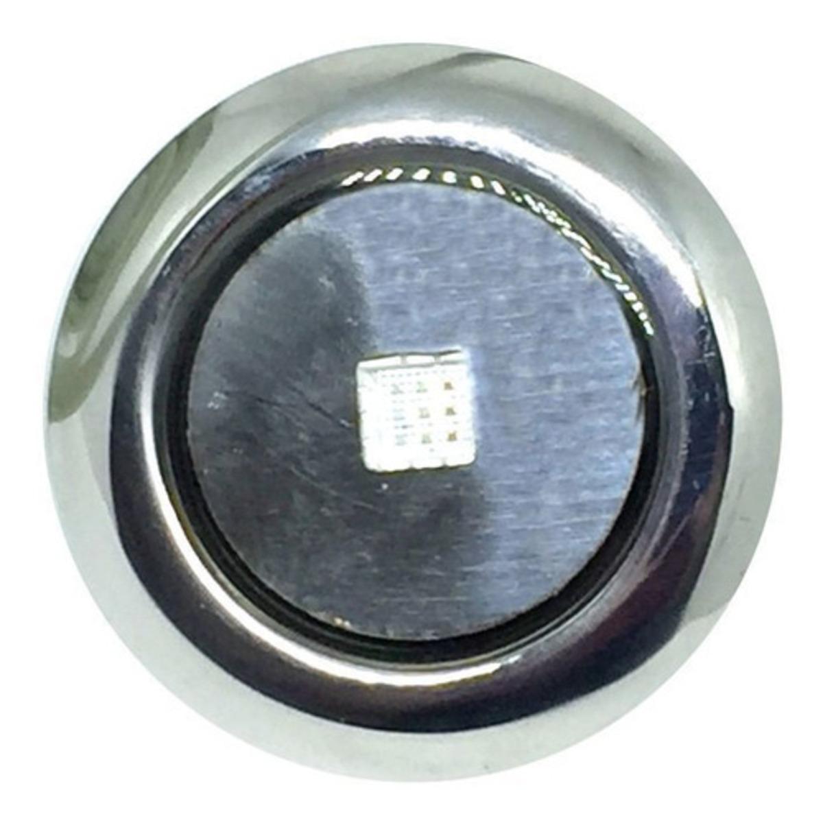 "Refletor Mini Steel Square Led 10w Inox com Plug 1/2"" Pooltec"