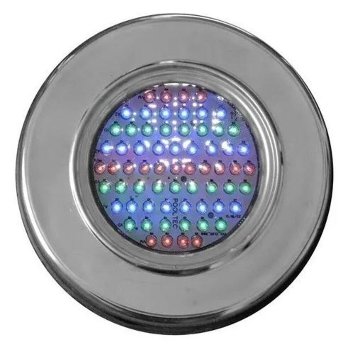 "Refletor RGB Steel Led 65 Inox com Plug 1/2"" Pooltec"
