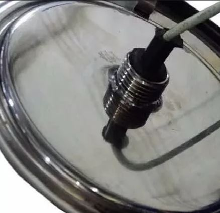 "Refletor RGB Steel Led 65 inox com rosca de 1/2"" - Pooltec"