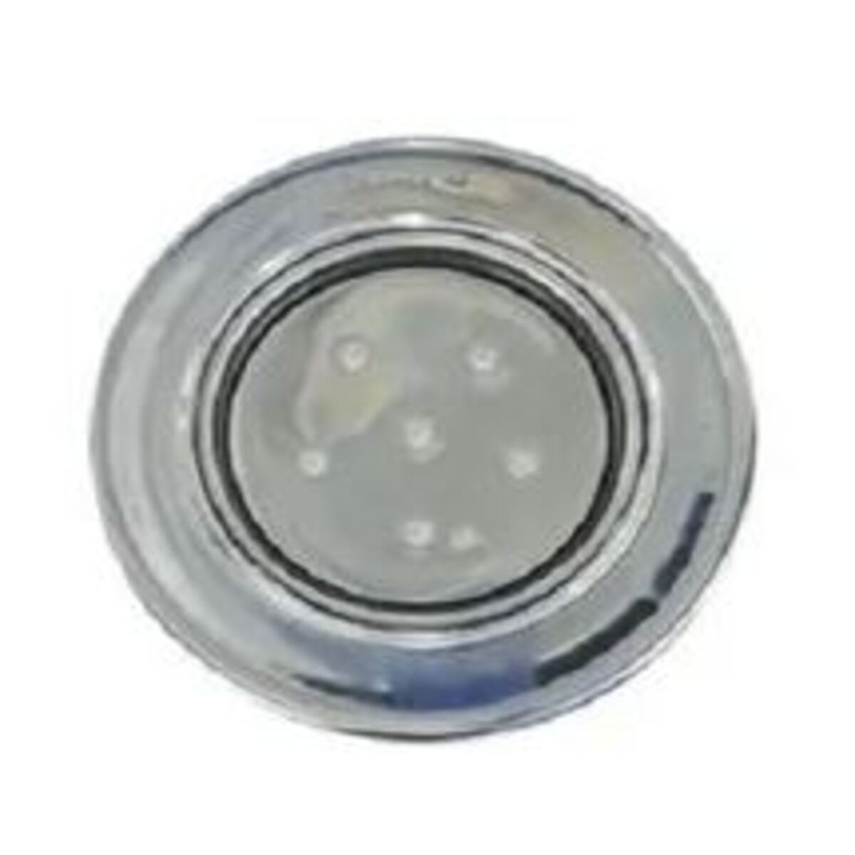"Refletor Steel Super Led 6 Azul Inox com Plug 1/2"" Pooltec"