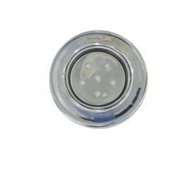 "Refletor Steel Super Led 6 Inox Luz Azul com Rosca 1/2"""