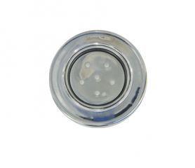 "Refletor Steel Super Led 6 Inox Luz Branca com Rosca 1/2"""