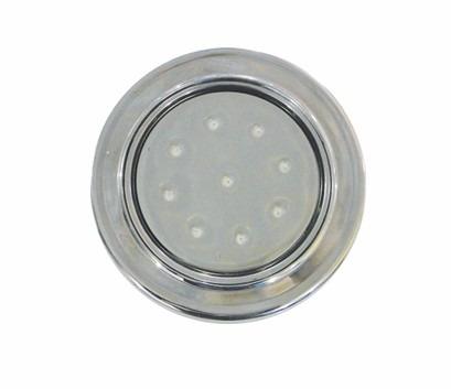 "Refletor Steel Super Led 9 Inox Luz Azul com Rosca 1/2"""