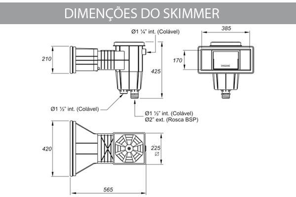 Skimmer Boca Larga Coadeira - Prata - Sodramar