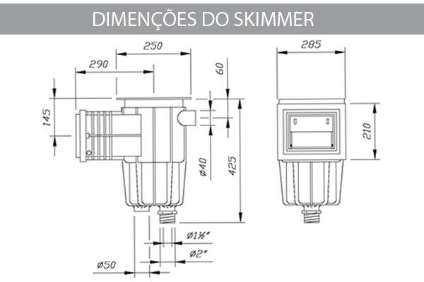 Skimmer Boca Pequena/ Coadeira Para Piscina - Sodramar