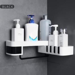 Suporte de Parede para Shampoo e condicionador com Gancho para Pendurar Esponja