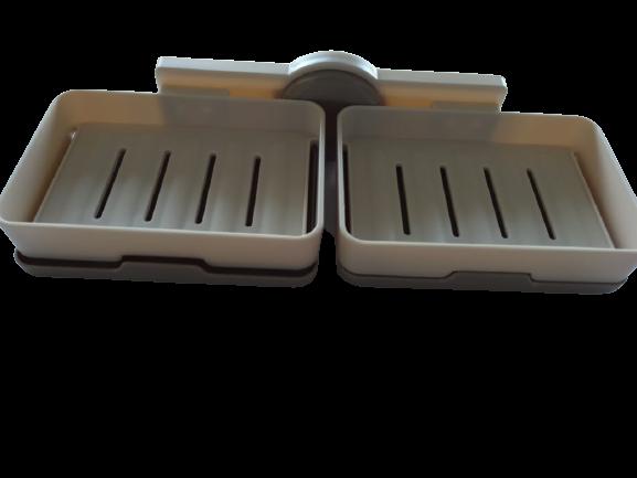 Suporte Em Plástico Duplo Para Sabão Sabonete Esponja