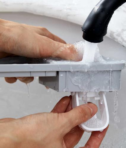 Suporte Multi Uso  de parede com dispensador de creme dental automatico