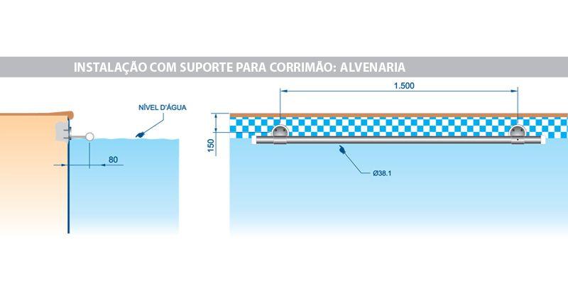 Suporte Para Corrimão em Latão Cormado - Sodramar