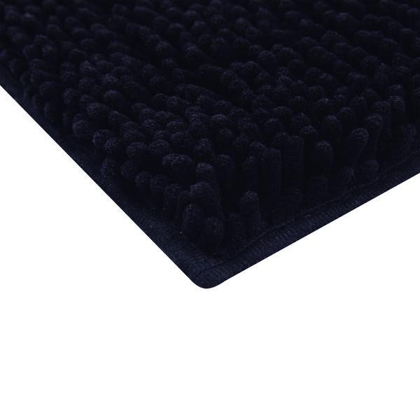 Tapete Microfibra Preto - Mor
