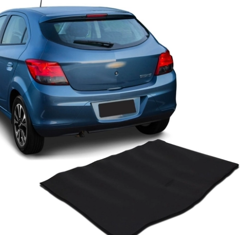 Tapete Protetor Para Porta mala de Carro Onix  ano 2013 A 2020 em EVA 8mm Preto