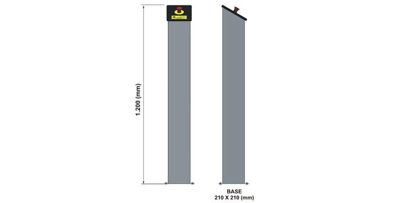 Torre em Inox com Botão de Emergência - Sodramar