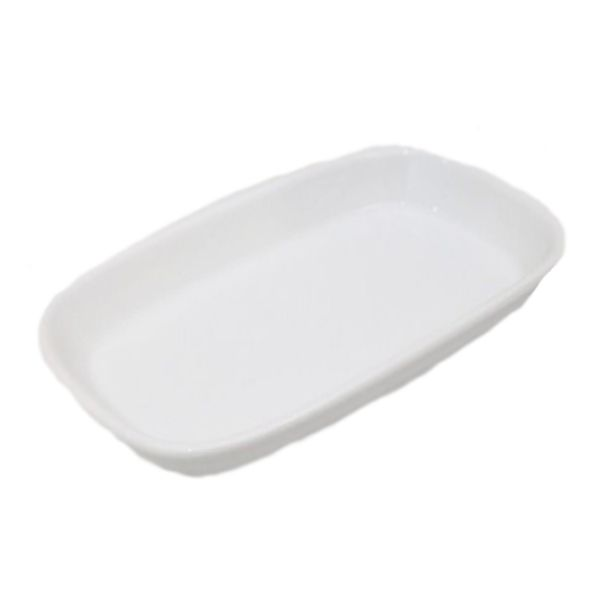 Travessa De Porcelana Schmidt Branco 23 X 14 - I204