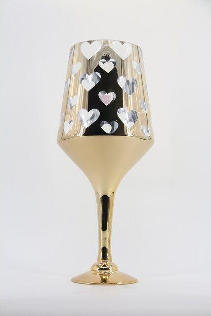 Vaso Decorativo em Vidro Design em Coração 50 x 16 - G1325