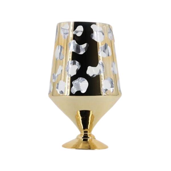 Vaso Decorativo em Vidro Dourado 35 x 16 - G1324