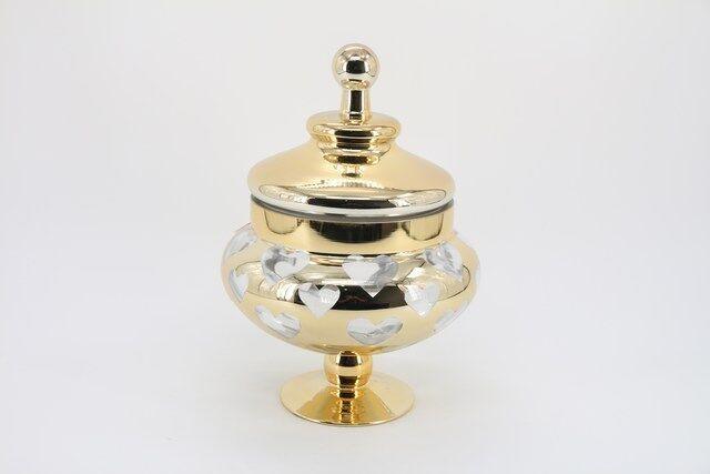 Vaso Decorativo em Vidro Dourado 37 x 20 - G1306