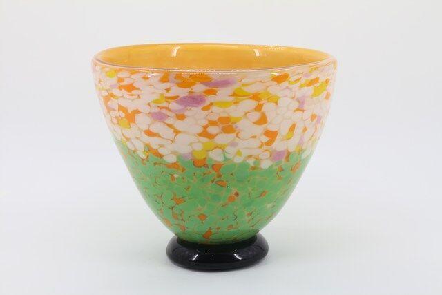 Vaso Decorativo em Vidro Florido 30 x 27 - N1487
