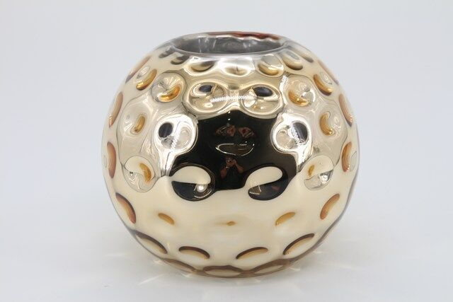 Castiçal  Decorativo em Vidro Redondo 20 X 10 - G1327
